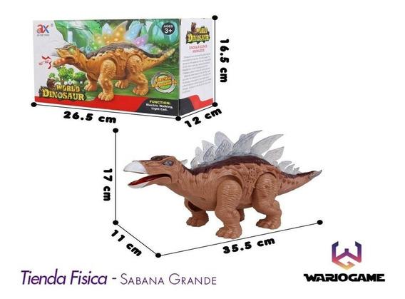 Juguete Dinosaurio Stegosaurus Ruge Camina Somos Tienda