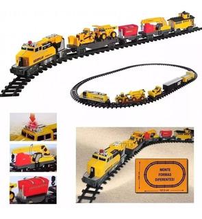 Tren De Carga Gigante Cat Juguete Con Luces Y Sonido 55650