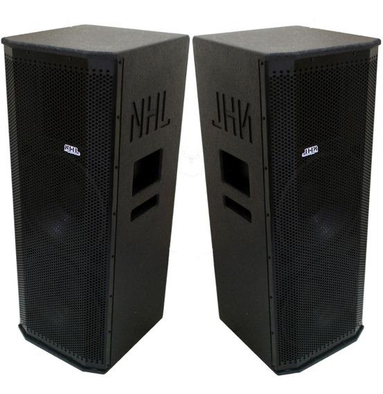 Caixa Som Line Array Ativa Passiva Oversound 2x12 1800w Ampl
