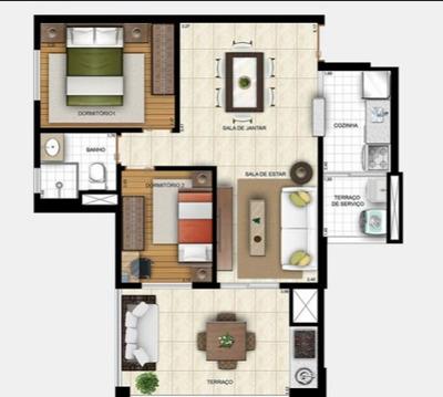 Lindo Apartamento Com Espaço Gourmet