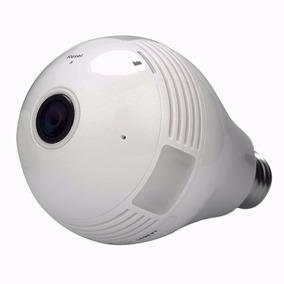 Lâmpada Câmera Panorâmica Vr Cam Led Wifi Espiã 360° Celular