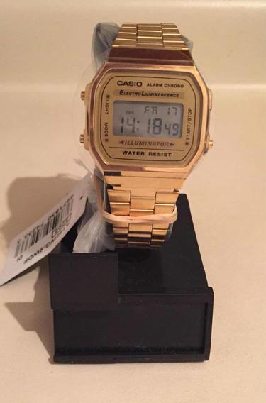 Reloj Casio Dorado A168wg-9 Mens Vintage Original