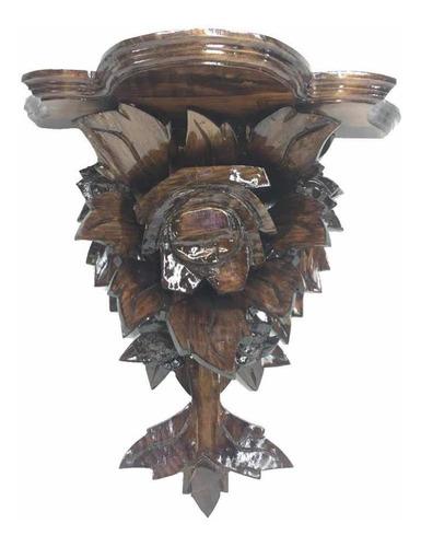 Imagen 1 de 3 de Repisa Tallada En Madera Mediana 46 X45 X 21