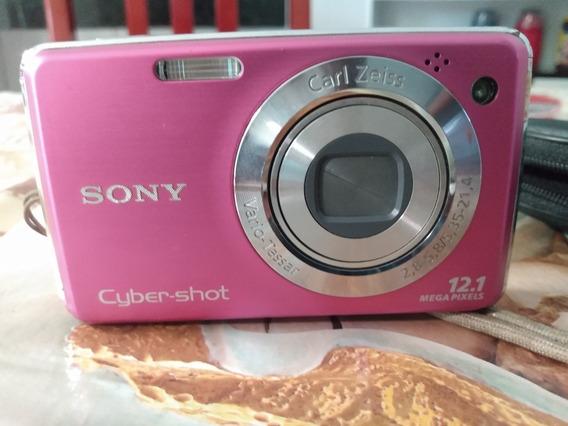 Sony Câmera Cyber Shot Com Cartão De Memória