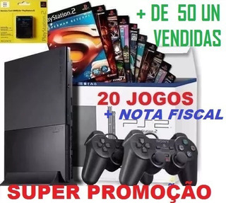 Preço De Play 2+ Barato+2 Controles+20 Jogos+memory+garantia