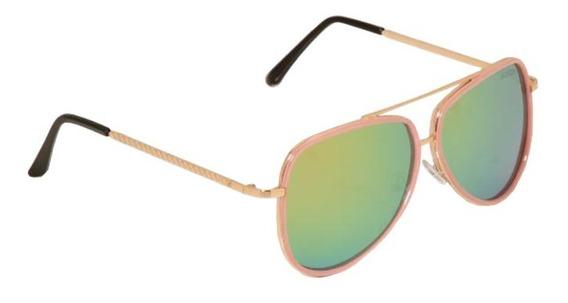 Óculos De Sol Feminino Aviator Espelhado Quintess