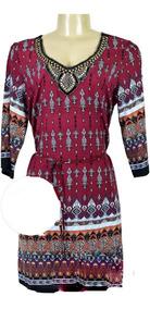 Vestido Curto Feminino Soltinho, Macaquinho, Vestido Indiano