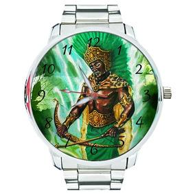 Relógio Oxóssi Orixá Espírita Umbanda Candomblé Espiritismo