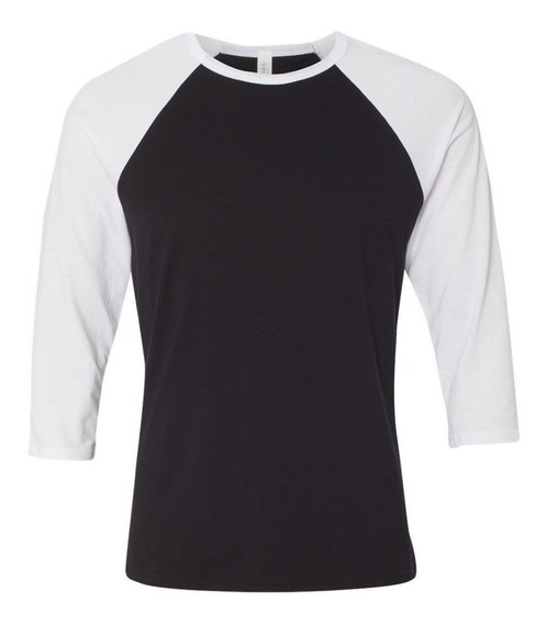 Camiseta Camisa Raglan 3/4 Lisa Baseball Promoção Zera Estoq