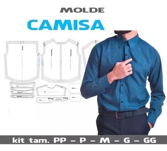 Kit Patrones Camisa Camiseta Masculina Manga Larga
