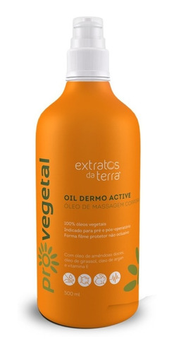 Pro Vegetal Oil Dermo Active Óleo De Massagem 500ml Extratos