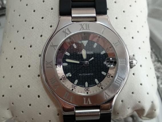 Reloj Cartier Autoscaphe Automatico Acero