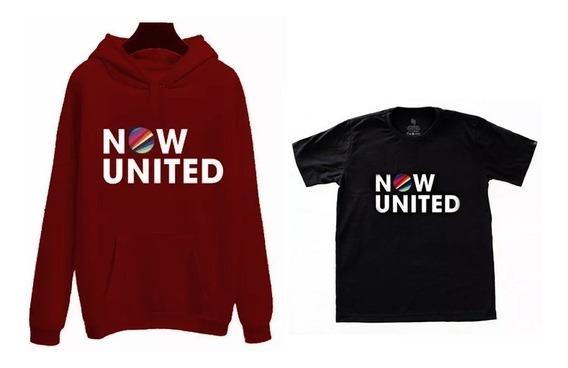 Kit Blusa De Frio Moletom + Camisa Camiseta Now United
