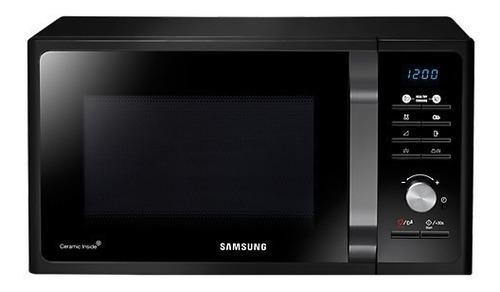 Microondas Con Grill Samsung 23 Litros Negro Mg23f3k3tak