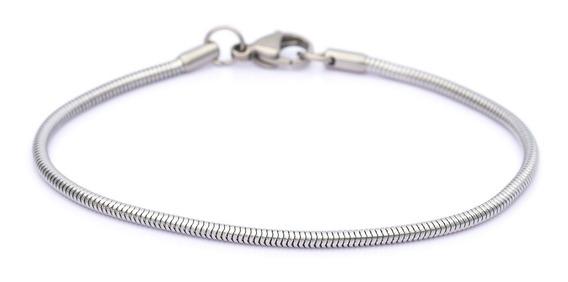 Pulseira Bracelete Aço Inox Masculino Ogrife J-353 Prata