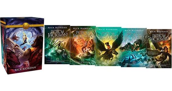 Kit Percy Jackson E Os Olimpianos + Box Heróis Do Olimpo