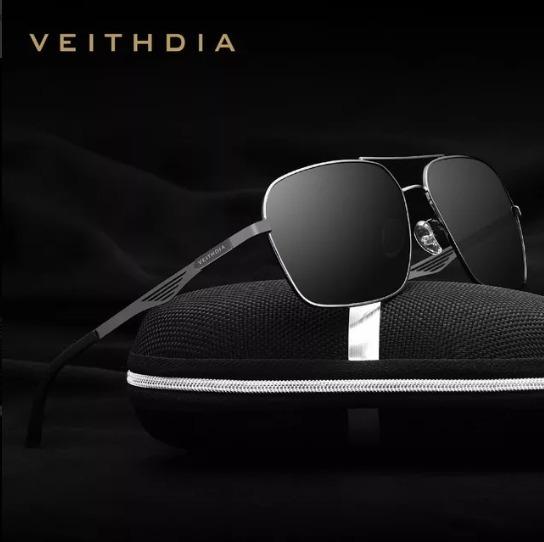 Óculos De Sol Masculino Veithdia Lentes Polarizadas Uv400 3w