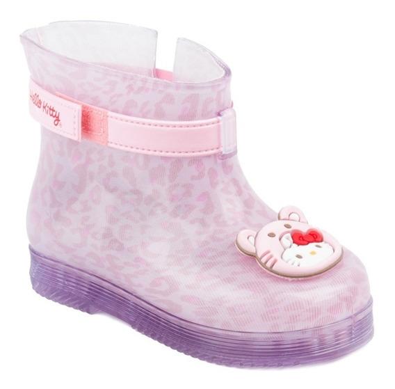 Bota Feminina Infantil Galocha Hello Kitty Grendene