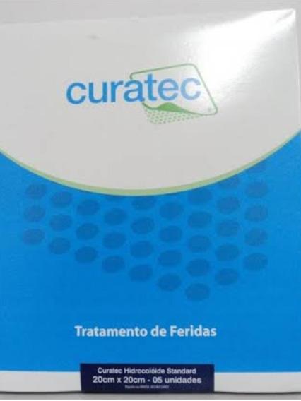 Curativo De Hidrocolóide 20cm X 20 Cm Curatec Standard