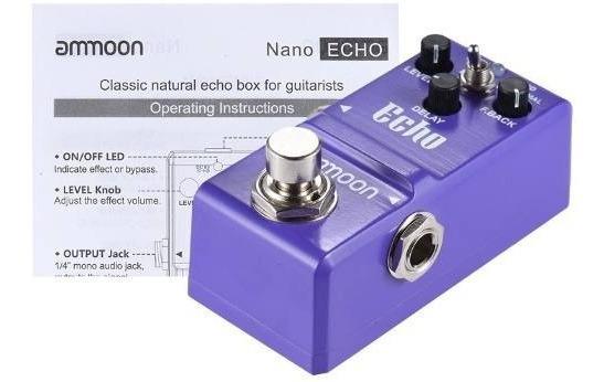 Nano Delay Pedal Echo Ammon Pequeno Melhor Custo Beneficio