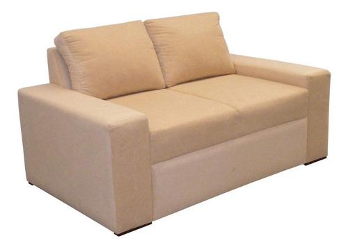 Imagen 1 de 2 de Sofa Chicago 2 Puestos Tela Beige
