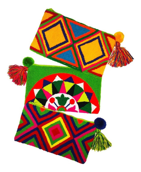 Cartera Wayuu Xl Porta, Neceser Billetera Sobre Cocoavellana