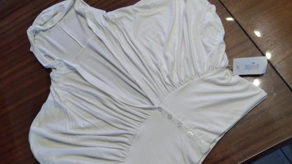 Saquito De Modal Blanco Con Capucha T S/m