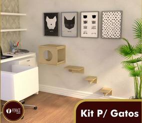 Kit Nicho Gatos Pcs 1 Toca, 2 Steps,1 Prateleira - Oferta!!!
