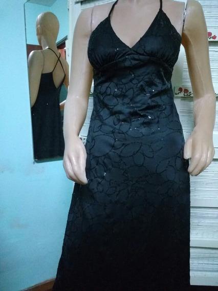 Vestido Solera Sans Doute Original, Negro Brillos, Mb Estado