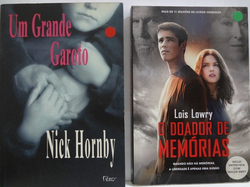 2 Livros Doador De Memórias Lois Lowry + Um Grande Garoto