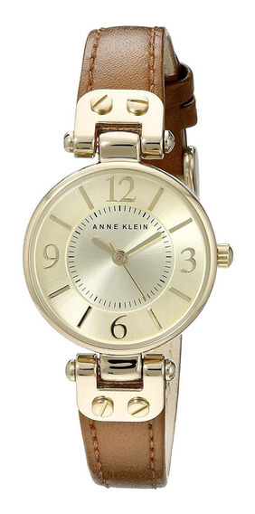 Relógio Anne Klein Feminino Couro Champagne 9442chhy