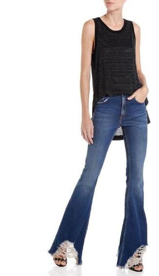 Calça Feminina John John High Flare Malasia Jeans