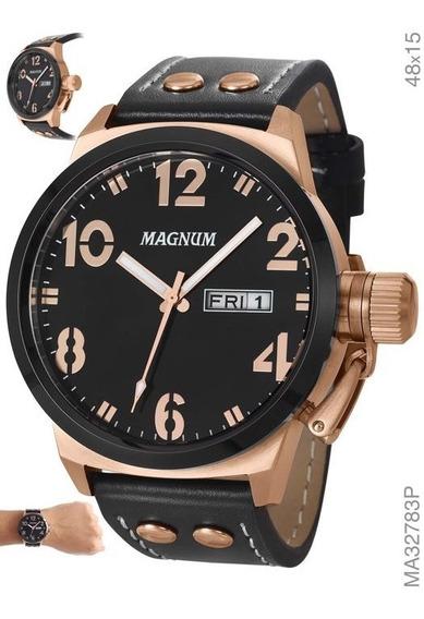 Relógio Masculino Magnum Military Ma32783p Preto