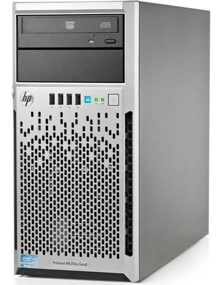 Servidor Hp Ml310e Gen8 V2 Xeon E3-1220v3 16gb Hd 2x1tb