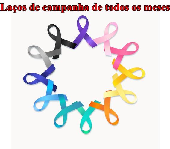 Kit 180 Laços Campanha Janeiro Branco Laços De Cetim