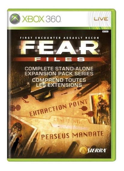 F.e.a.r. Files Xbox 360 Mídia Física Pronta Entrega