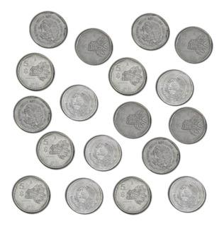 Moneda Antigua De 5 Pesos Circulación 1980 A 1981