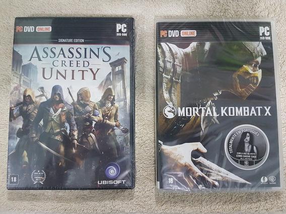 Jogos Pc Lacrados - Mortal Kombat X E Assassins Creed Unity
