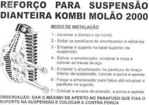 Molão 2000 Para Suspensão Dianteira Da Kombi