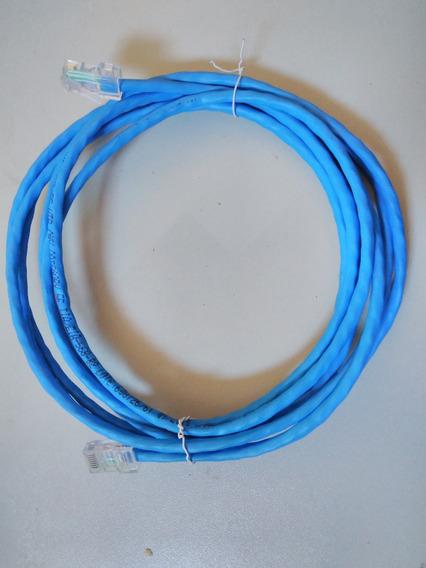 Kit 10 Cabos De Rede 3m Azul Montado