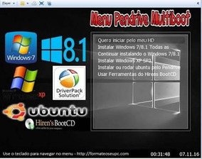Hd Multiboot - Windos Xp/7/8/10/linux/hirensboot