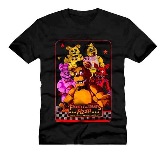 Camiseta Infantil Fnaf - Five Nights At Freddy