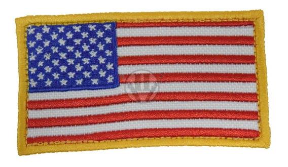 Parche Bordada Bandera Estados Unidos Usa Eeuu Clasica Abroj