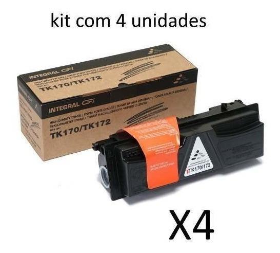 Kit 4und Toner Tk170 Tk172 P/ Kyocera Fs1320/1370 7.2k Impr.