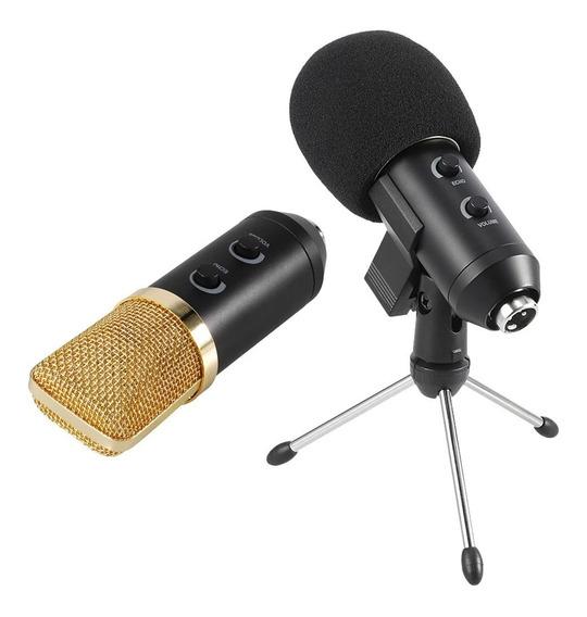 Microfone Bm-100fx Usb Estudio Gravação Profissional + Tripê