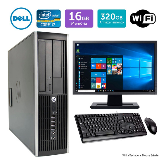 Computador Usado Hp Compaq 8200sff I7 16gb 320gb Mon17w