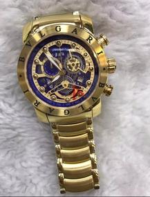 Relógio Bvlgari Masculino Novo Dourado