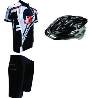 Conjunto Roud Penks Cinza Camisa+bermuda+capacete