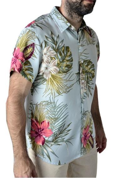 Camisa Hawaiana Flores Floreada Hombre The Big Shop