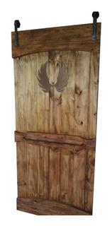 Puerta Granero Madera Y Hierro Calado